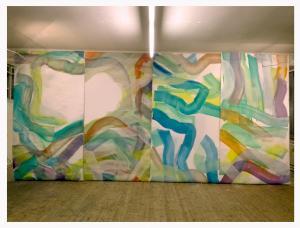 Gesamtbild 660 x 320 cm, Öl auf Leinwand, 2018, 2019